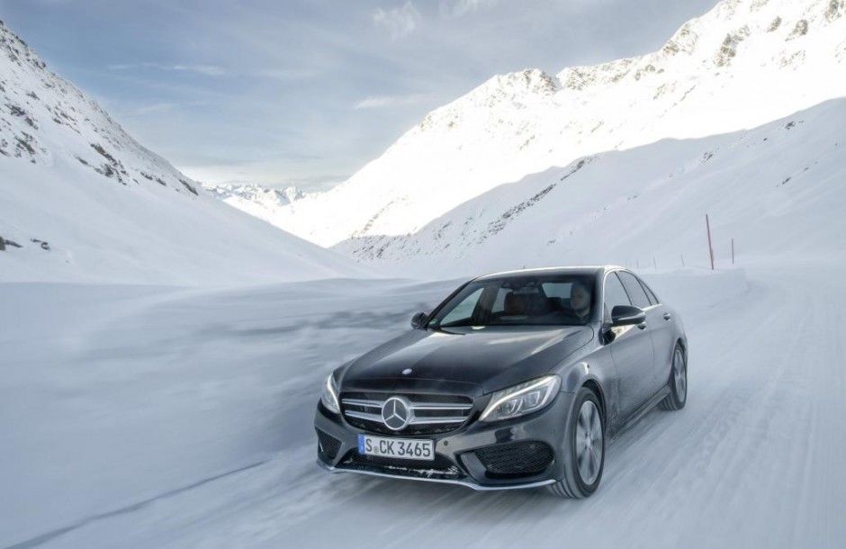 Mercedes-Benz C-Class at the 4MATIC workshop in Hochgurgl, Austria