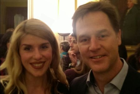 Dr Eleanor Longden with Nick Clegg at the Mental Health Heroes Awards
