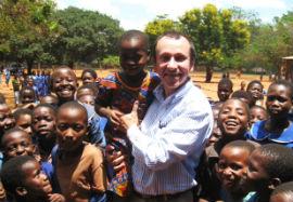 Professor Frank Hardman visits a Kenyan school