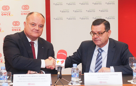 Abertis Foundation and ONCE Foundation to improve the benefits and conditions of motorway transit for the group of disabled persons