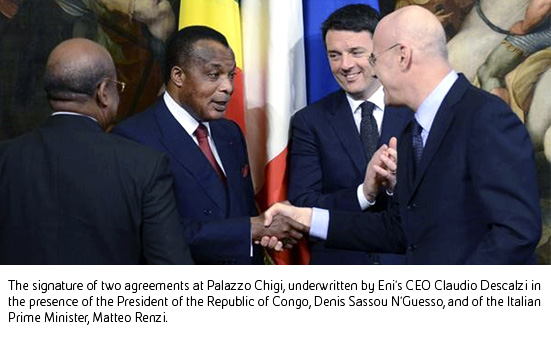 Eni confirms its historical commitment in Congo with the signature of two agreements at Palazzo Chigi