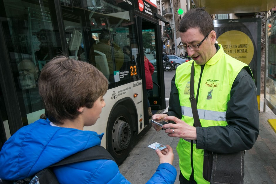 New project in Barcelona called KanGo! to help school children travel to school alone on public transport