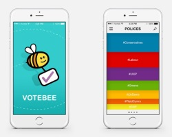 UK: Loughborough University created new app VoteBee to track the nation's mood about the General Election through Twitter