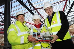 University of Birmingham's new sports centre now reached its highest point