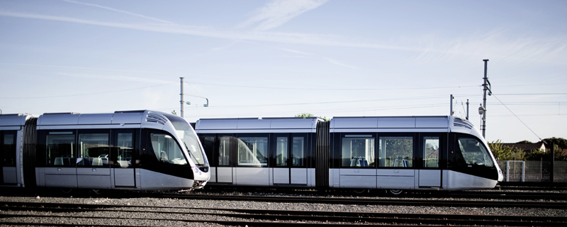 Alstom Citadis trams link the airport of Toulouse Blagnac to the centre of Toulouse