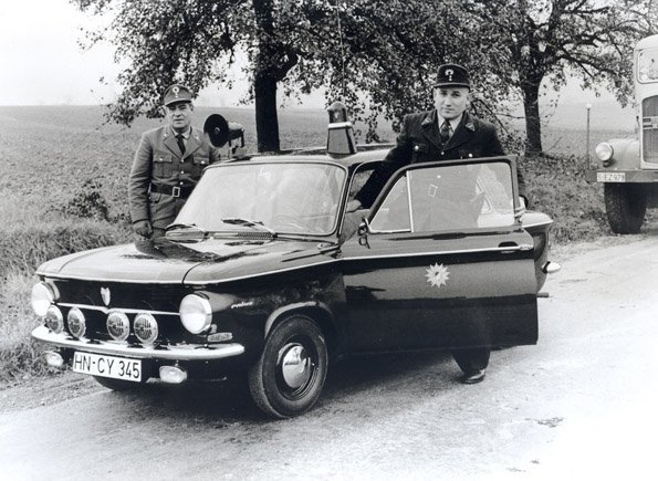 Police officials in the state of Baden-Württemberg drove this model, an NSU Prinz 4, on patrol. The only remaining specimen in Germany is currently part of the special exhibition in Ingolstadt.