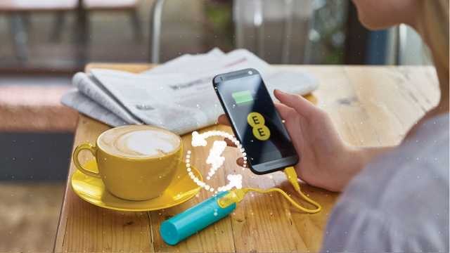 """EE launches innovative """"never ending power"""" scheme to reward customers with free EE Power Bar - a portable smartphone charger"""