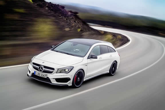 Mercedes-AMG CLA 45 Shooting Brake, calcite white
