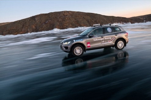 Russian Book of Records: Volkswagen Touareg demonstrated the greatest average speed on the ice over the 1000 km distance on Lake Baikal