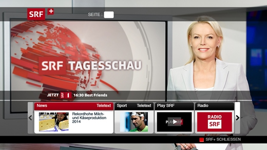 Swisscom TV 2.0 now allows viewers at home to enhance programmes according to their needs with HbbTV