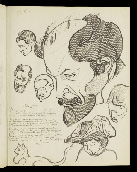 Tate Archive: Henri Gaudier-Brzeska's unpublished sketchbooks available on Tate's website