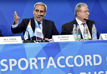 Union International Motonautique President Raffaele Chiulli elevated to the position of Vice-President of the SportAccord Council