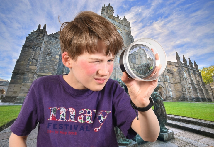 Donnie Scott (10) discovers King's College campus which will host the May Festival