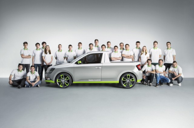 ŠKODA AUTO Vocational School 'trainee car' project: The Pickup ŠKODA FUNstar to make public debut at the 34th GTI Meeting at Wörthersee, 13 - 16 May 2015