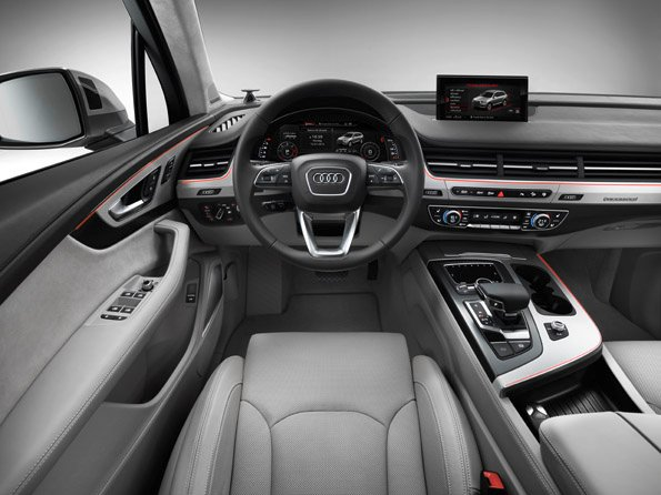 In the picture: The driver assistance systems in the new Audi Q7* already set standards today.