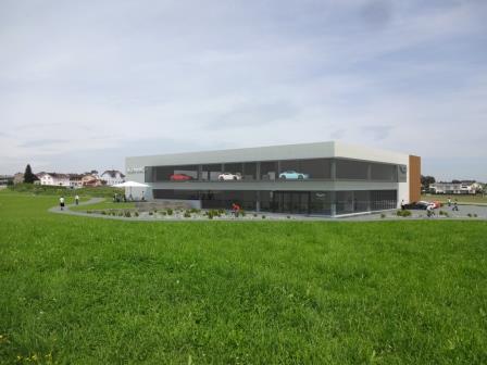 Rendering of the new dealership of Aston Martin St. gallen