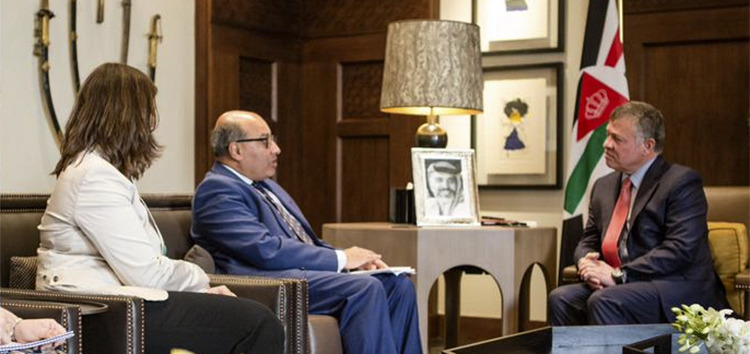 EBRD president Sir Suma Chakrabarti and His Majesty King Abdullah held discussions in Jordan about economic support for the Hashemite Kingdom