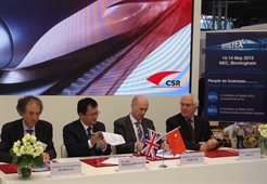 The University of Birmingham and Chinese rolling stock manufacturer, CSR Sifang to cooperate on railway research and education