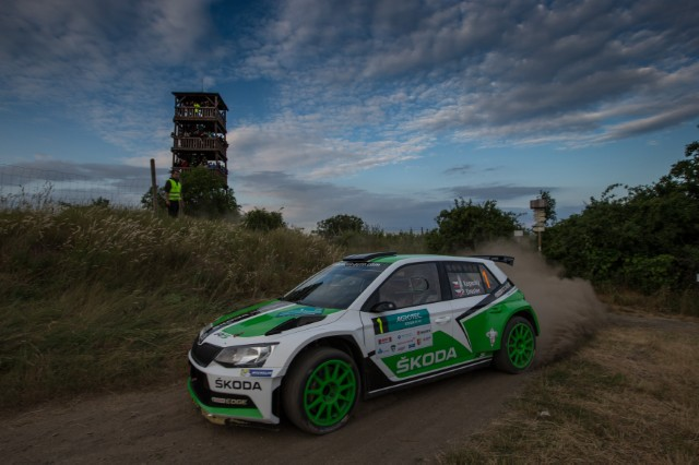 ŠKODA works driver Jan Kopecký (CZ) celebrated his third win in the third event of the Czech Rally Championship (MČR)