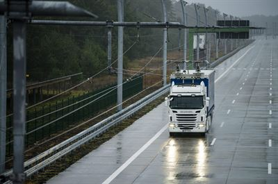 Boliden: Gävleborg becomes the first place in the world to introduce electric roads for trucks on a public road