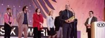 Klaus Bischoff, Head of Volkswagen Design, accepted the innovation award on behalf of his team.