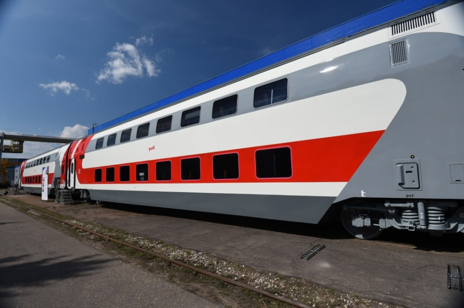 Transmashholding: Tver Car Building Plant delivers the first train of double-deck carriages with seating accommodation to JSC Federal Passenger Company