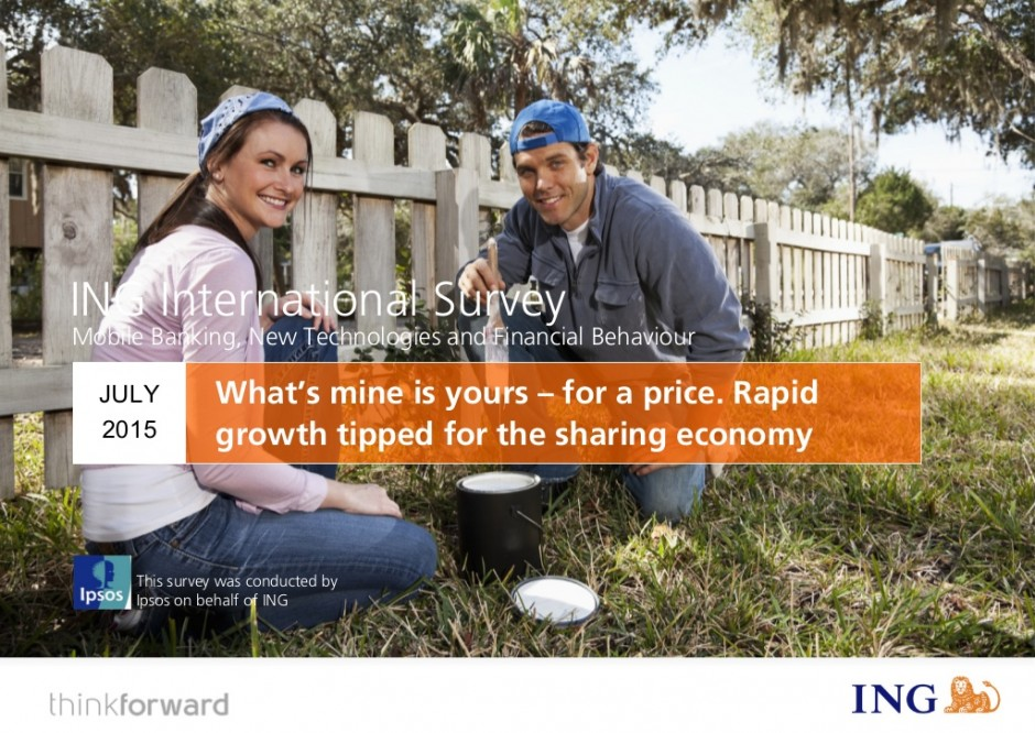 ING study: European countries lead the way in the sharing economy