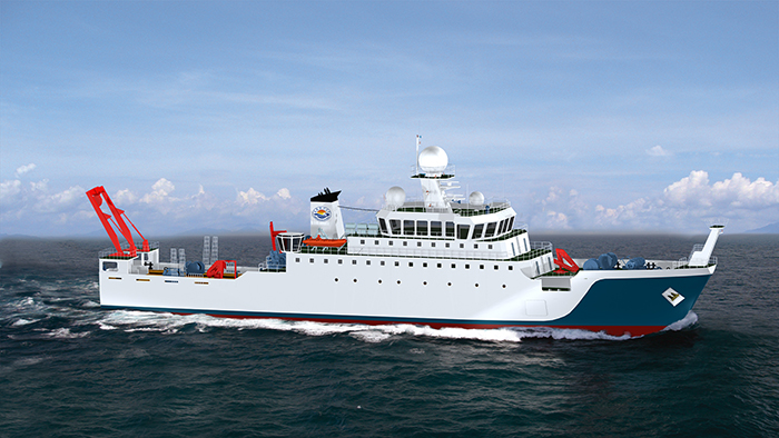 The new fisheries research vessel of the Shanghai Ocean University will be equipped with Voith Schneider Propellers