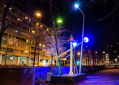 TU Delft students to install self-built artwork Street Light Evolution on the university campus on Monday 27 July