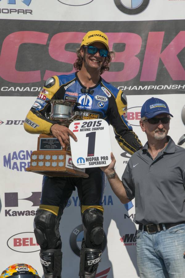Bowmanville (CAN) 16th August 2015. Team BMW Waznie Racing Rider Jordan Szoke #101 (CAN).