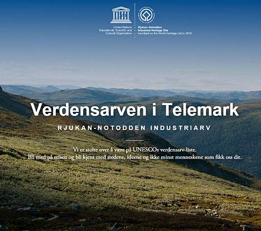 Hydro contributes new website industriarven.no to celebrate the addition of Notodden and Rjukan to the UNESCO World Heritage List