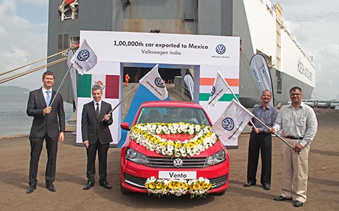 Volkswagen India achieves major milestone: shipped its 1,00,000th car built for Mexico