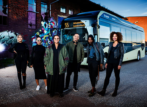 Volvo: Seinabo Sey performed onboard one of Gothenburg's new electric buses to promote ElectriCity