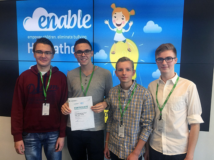 ENABLE Hackathon 2015: First‐Aid App for smartphones against cyberbullying wins Kaspersky Lab's special prize
