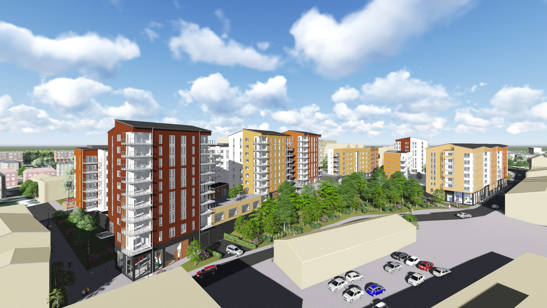 Skanska partners with Lundbergs to build 392 rental apartments in Norrköping, Sweden