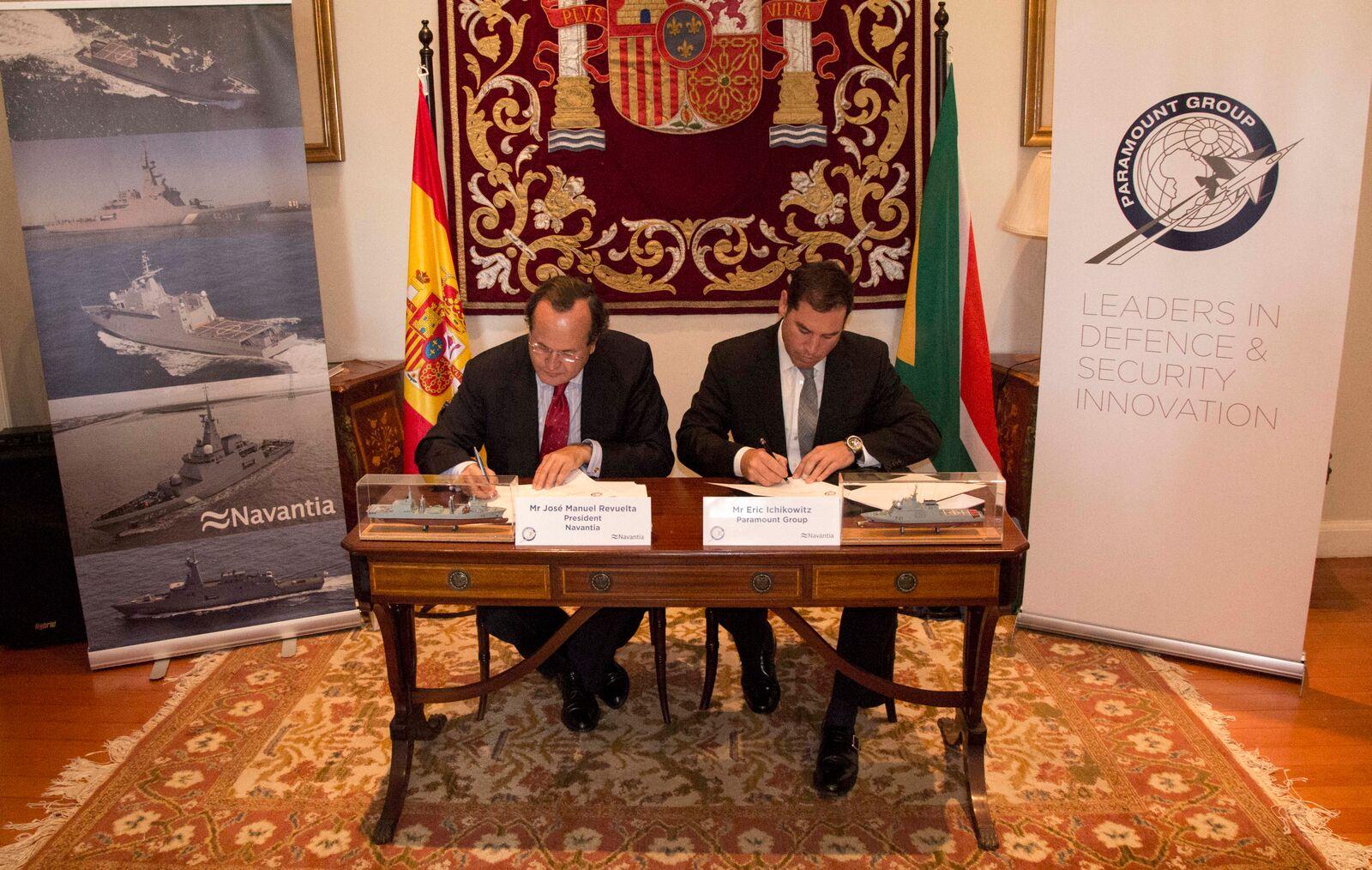 Navantia y el grupo sudafricano de defensa Paramount han firmado el 16 de octubre un a acuerdo de colaboración (MoU)