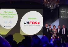 UKFast won Managed Service Provider of the Year prize at Dell Enterprise Partner Awards