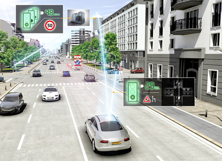 "Vehicle-to-X communication and the ""electronic horizon"": UR:BAN tests how vehicle networking can help drivers negotiate intersections safely and efficiently."