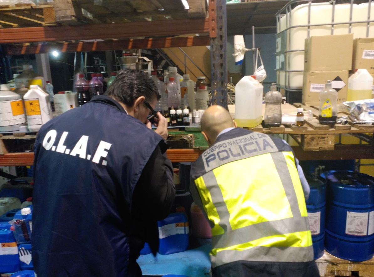 OLAF, Spanish customs and police intercepted 200,000 bottles/mo counterfeit shampoo criminal network in Spain