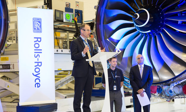 Rolls-Royce opens its £30m Production Facility extension to its Derby Assembly & Test Facility