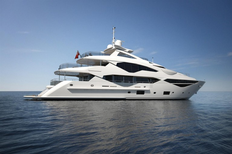 Sunseeker's 131 Yacht will première at London Boat Show , 8-17 Jan 2016