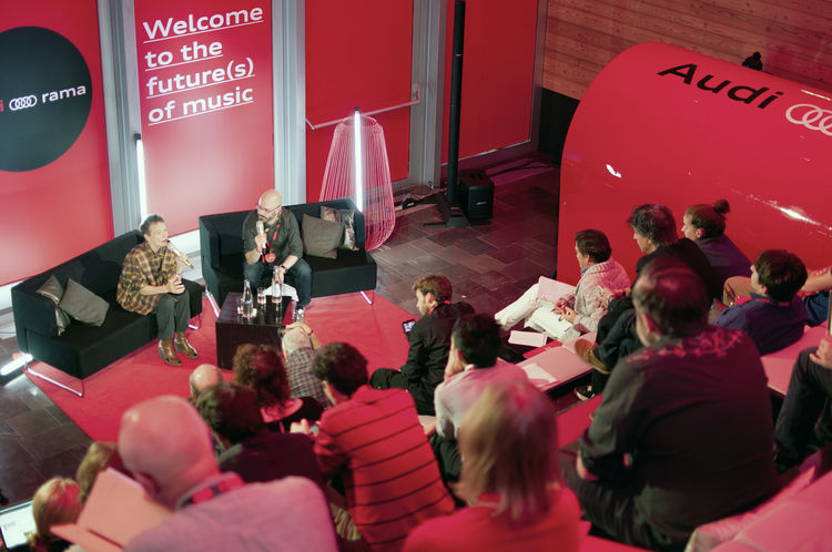 The first Audi-O-Rama conference on the future of music held in Verbier, Switzerland