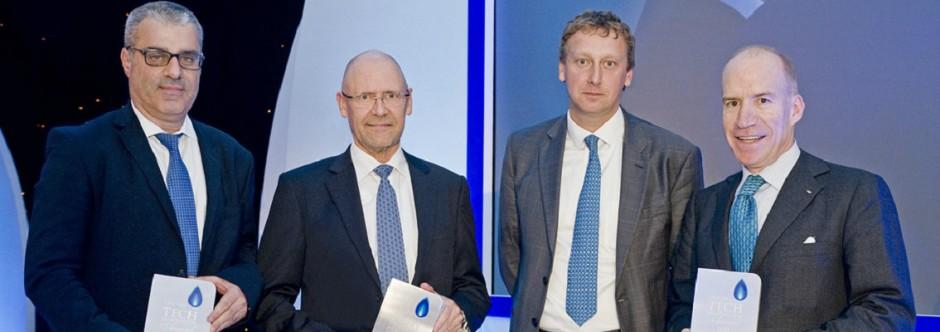 DNV GL, GTT, Hyundai Heavy Industries and GasLog won CWC LNG Technological Innovation Award 2015 for their LNGreen project