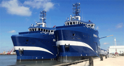 Harvey Gulf International Marine's LNG fuelled offshore supply vessels recognised by Workboat magazine are powered by Wärtsilä engines