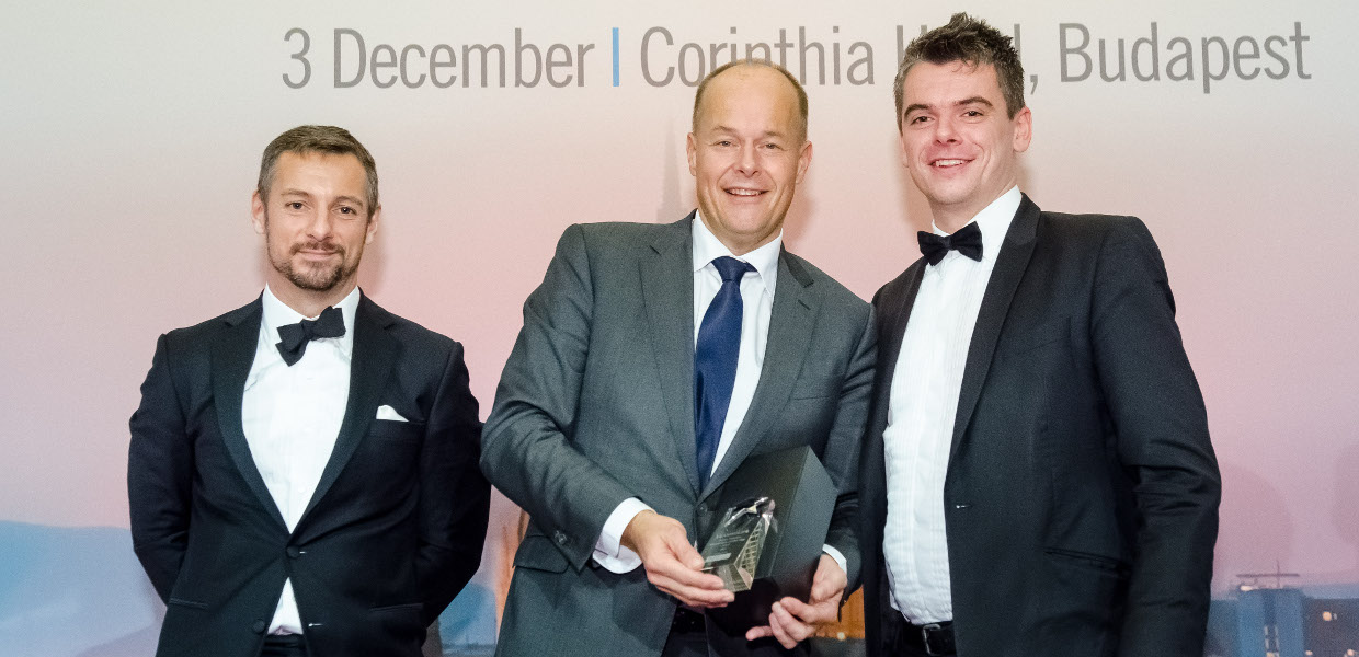 The Green Finance Transaction of the Year award was presented to Jean Pierre Vissers on December 3, 2015 at the Leasing Life Conference & Awards Dinner.