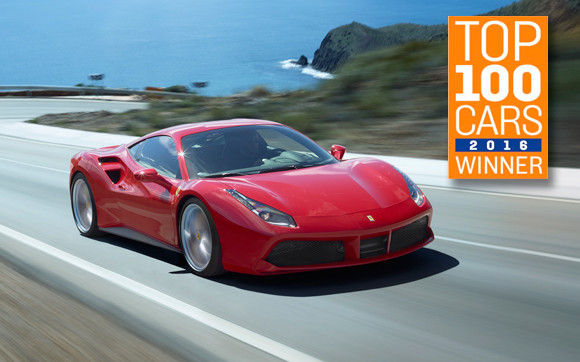 Ferrari 488 GTB won the Supercars category of The Sunday Times Top 100 Cars