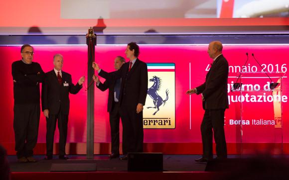 Ferrari lists on Borsa Italiana with the ticker symbol RACE