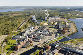 Drawing of planned bioproduct mill in Äänekoski, Finland (© Metsä Group)