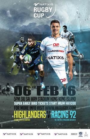 La 3e édition de la Natixis Rugby Cup au Siu Sai Wan Stadium de Hong Kong, 6 février 2016