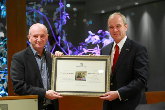 Merck CEO and Chairman of the Executive Board honoured with Weizmann Award in the Sciences and Humanities
